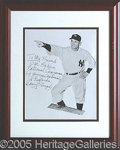 "Miscellaneous, A SUPER CASEY STENGLE SIGNED PHOTO. Vivid Tom Aiken 8"" by 10 "" ..."