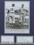Miscellaneous, CLEVER GIL MCDONALD AND TONY KUBEK FRAMED DISPLAY. Original W...