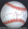 """Miscellaneous, GEORGE (W.) BUSH SIGNED BALL. Nicely signed with """"Best Wishes"""" i..."""