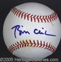 Miscellaneous, BILL CLINTON SIGNED BALL. Strong, bold blue sharpie signature o...