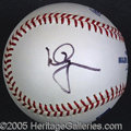 Miscellaneous, MARK MCGWIRE SINGLESIGNED BALL. Strong, bold black sharpie sign...