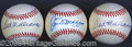 Miscellaneous, THREE SINGLE-SIGNED LEE MACPHAIL OAL BALLS. Two Ted Williams, s...