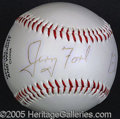 Miscellaneous, SCARCE BALL SIGNED BY GERALD AND BETTY FORD. Ballpoint signatur...