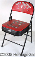 "Miscellaneous, 1996 CHICAGO BULLS FOLDING CHAIR. Said to be an ""Executive Chai..."