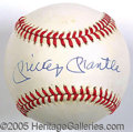 Miscellaneous, MICKEY MANTLE SINGLE-SIGNED BALL. Bold ballpoint signature on B...