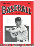 """Miscellaneous, CHOICE MANTLE ROOKIEYEAR MAGAZINE. August 1951 issue of """"Baseba..."""