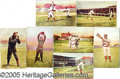 "Miscellaneous, COLLECTION OF 7 1907 CINCINNATI REDS ""RED BELT SERIES"" POSTCARDS..."