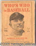 Miscellaneous, RARE 1916 WHO'S WHO, WITH TY COBB ON THE COVER. Key issue of th...