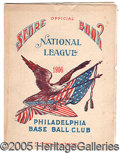 Miscellaneous, PAIR OF COLORFUL, EARLY 1906 SCORECARDS. Philadelphia Americans...