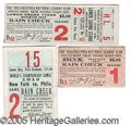 Miscellaneous, THREE RARE EARLY WORLD SERIES TICKET STUBS. 1913 N. Y. National...