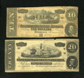 Confederate Notes:1864 Issues, T67 $20 1864.. T68 $10 1864.. ...