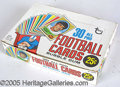 Miscellaneous, 1970 TOPPS FOOTBALL CELLO BOX. For its vulnerable and unwieldy ...