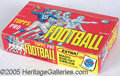 Miscellaneous, 1965 TOPPS FOOTBALL BOX. Accommodating Topps' ill-advised tall ...