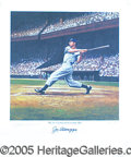 Miscellaneous, EXCEPTIONAL DIMAGGIO SIGNED LITHO. There are a number of styles...