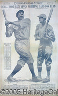 Miscellaneous, MOST UNUSUAL LARGE 1922 BABE RUTH POSTER. This imposing 21_ x 35...