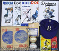 Miscellaneous, BROOKLYN DODGER COLLECTION. This little nest of Dodger memorabi...