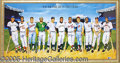 """Miscellaneous, COLORFUL LARGE SIGNED """"500 HOME RUN HITTERS"""" PRINT. Signed by a..."""