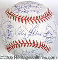 Miscellaneous, CHOICE 1986 METS WORLD CHAMPIONS AUTOGRAPHED BALL. 29 signature...