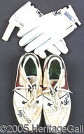 Miscellaneous, ART MONK SHOES AND GLOVES. Among the 1980's several exciting Nfl...
