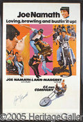 """Miscellaneous, JOE NAMATH AUTOGRAPHED FILM POSTER. For a few years """"Broadway J..."""