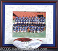 "Miscellaneous, 1987 NFL PRO-BOWL SIGNED PHOTO AND BALL. Consisting of: 1) 14"" ..."