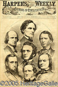 Political:3D & Other Display (pre-1896), 1861 HARPER'S WEEKLY COVER WITH JEFFERSON DAVIS. Feb. 2,1861 iss...