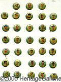 Advertising:Pocket Mirrors & Pinbacks, COLLECTION OF 33 ALMOST ALL DIFFERENT ORBIT GUM PIN BACKS. All n...