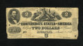 Confederate Notes:1862 Issues, T42 $2 1862. Judah P. Benjamin was a Yale graduate, class of 1828.Very Good....