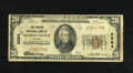 National Bank Notes:Virginia, Charlottesville, VA - $20 1929 Ty. 1 The Peoples NB Ch. # 2594. Theofficers are H.A. Dinwiddie and Geo. R.B. Michie of ...