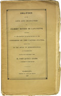 "Books:Pamphlets & Tracts, Marquis de Lafayette Memorial Booklet, ""Oration on the Life and Character of Gilbert Motier De Lafayette. Delivered at the r..."