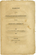 "Books:Pamphlets & Tracts, 1812 Presidential Election Booklet, ""Hamilton to the Federalists ofthe United States on the Choice of a President.""(New Yor..."