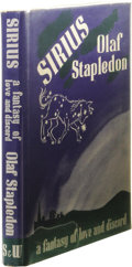 Books:First Editions, Olaf Stapledon Sirius: A Fantasy of Love and Discord.(London: Secker & Warburg, 1944), first edition, 200 pages, tanbo...