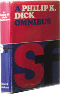 Books:First Editions, Philip K. Dick: A Philip K. Dick Omnibus. (London: Sidgwick& Jackson, 1970), first edition, 138 pages, blue boards with...