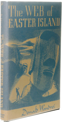Donald Wandrei: The Web of Easter Island. (Sauk City: Arkham House, 1948), first edition, 191 pages, jacket by Audrey Jo...