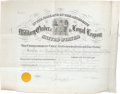 """Autographs:U.S. Presidents, Rutherford B. Hayes Document Signed, one page, 24"""" x 19"""",Philadelphia, Pennsylvania, June 10, 1891. Ex-president Hayessign... (Total: 3 )"""