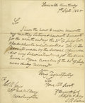 """Autographs:U.S. Presidents, Zachary Taylor Autograph Letter Signed with Rank as Lt. ColonelA.L.S. """"Z. Taylor Lt. Col"""" with rank, 1p., 8"""" x 9.75"""", L..."""