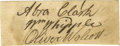 "Autographs:Statesmen, Declaration Signers Clark, Whipple, and Wolcott Together on a 3.25"" x 1.25"" sheet of paper. Top to bottom: ""Abra. Clark""..."