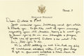 "Autographs:U.S. Presidents, Ronald Reagan Autograph Letter Signed, ""Ron"", two pages onpersonalized card, 6.25"" x 4.25"", Los Angeles, California, Ma..."