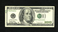 Error Notes:Shifted Third Printing, Fr. 2175-B $100 1996 Federal Reserve Note. Very Fine.. The green portion of the overprint is shifted to the left on this ple...