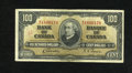 "Canadian Currency: , BC-27b $100 1937.. This Gordon-Towers $100 has a penned red lazy""3"" on the face. Very Fine...."