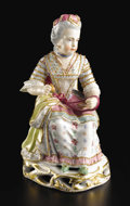 Ceramics & Porcelain, Continental:Modern  (1900 1949)  , A German Porcelain Figure. Attributed to CM Hutschenreuther, Bavaria, Germany. Early twentieth century. Porcelain with pol...
