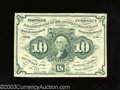 Fractional Currency:First Issue, First Issue 10c, Fr-1242, Extremely Fine. This ABC monogramed ...