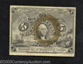 Fractional Currency:Second Issue, Second Issue 5c, Fr-1232, Crisp Uncirculated. Stamp hinge ...
