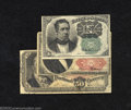 Fractional Currency:Fifth Issue, Three Fractionals a Fifth Issue 10c, Fr-1264, Very Fine; a ... (3 notes)