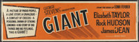 """Giant (Warner Brothers, R-1963). Banner (24"""" X 82""""). Drama"""