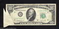 Error Notes:Foldovers, 1950-C $10 Federal Reserve Note, Fr-972-L, Very Fine. This is ...