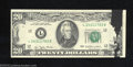 Error Notes:Ink Smears, 1977 $20 Federal Reserve Note, Fr-2072-L, Choice Crisp ...