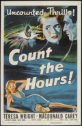 "Movie Posters:Crime, Count the Hours (RKO, 1953). One Sheet (27"" X 41""). Crime...."
