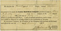 Miscellaneous:Ephemera, Louisa Railroad Slave Hire Contract...