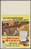 """Movie Posters:Crime, The Miami Story (Columbia, 1954). Window Card (14"""" X 22""""). Crime...."""